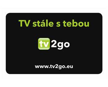 TV2GO registrační karta pro sledování TV