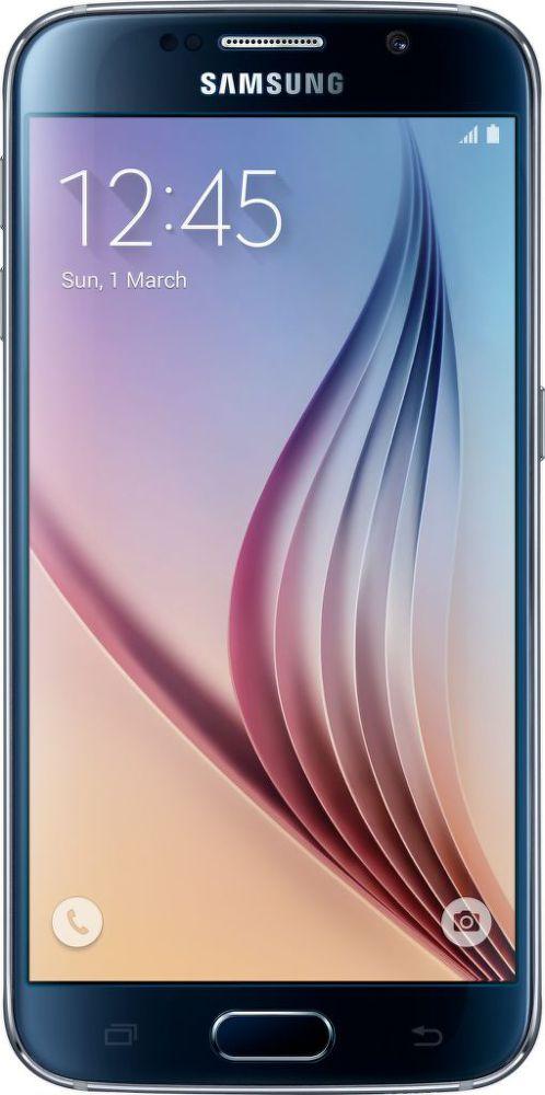 Samsung G920F Galaxy S6 32GB (černý) + dárek Samsung Clear View pouzdro EF-ZG920BL pro Galaxy S6 (modré) zdarma