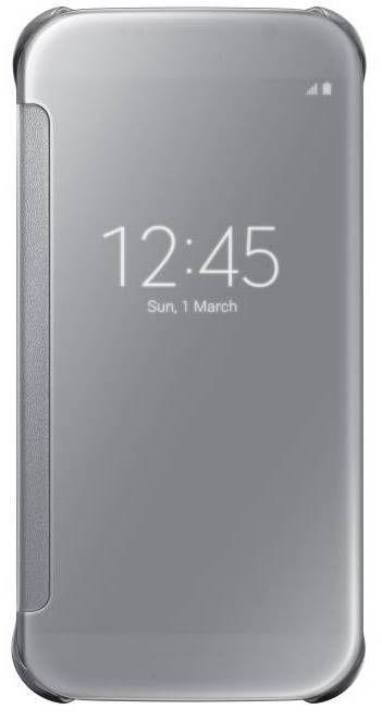 Samsung Clear View pouzdro EF-ZG920BS pro Galaxy S6 (stříbrné)