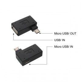 MobilNet OTG adaptér USB/MicroUSB (černý)