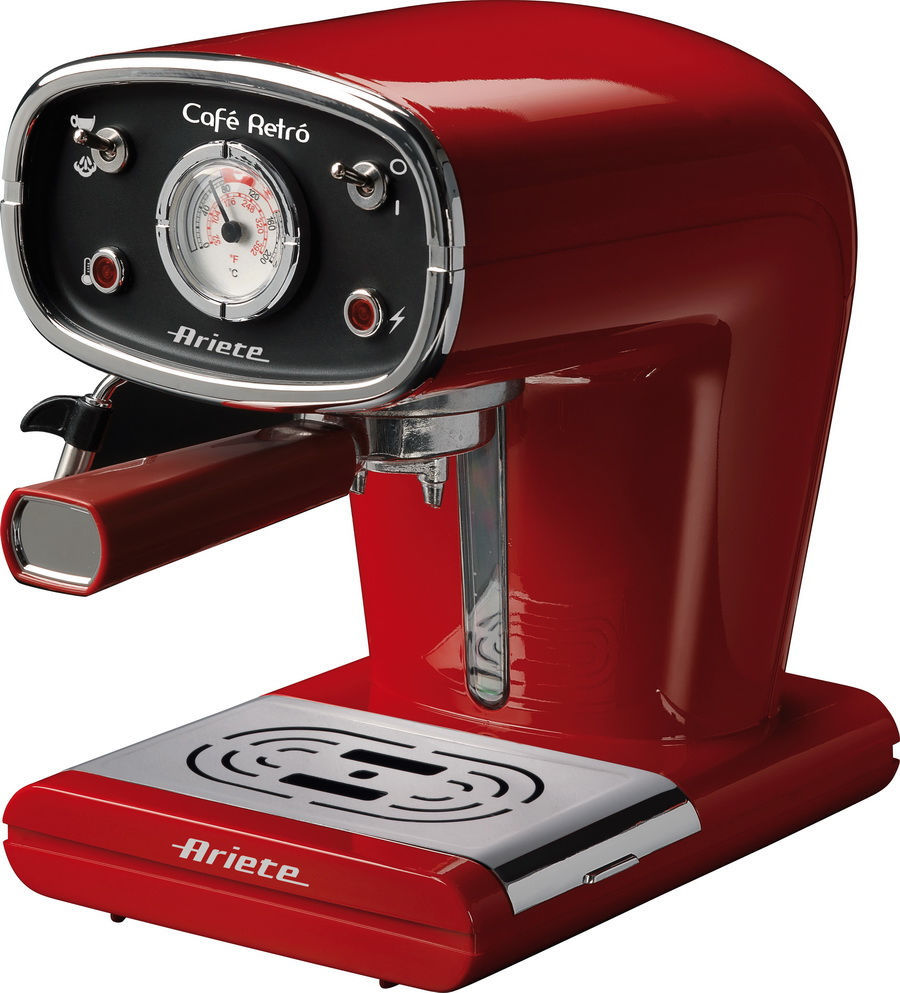 ARIETE 1388 RETRO (červená) - Pákové espresso