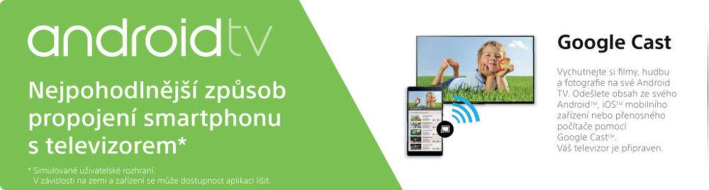 Chytrý televízor s operačným systémom Android Sony