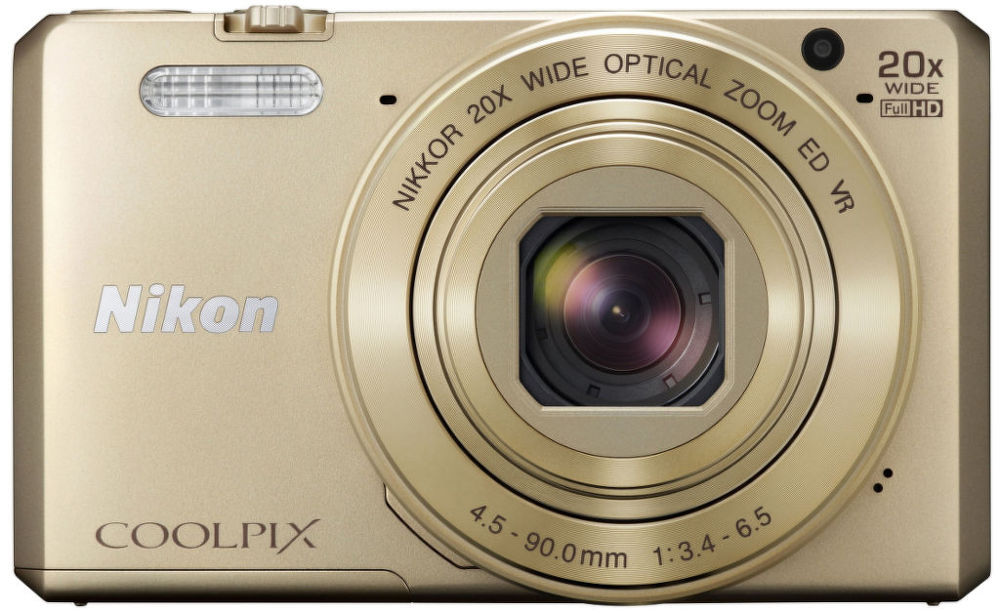 Nikon Coolpix S7000 (zlatý) + pouzdro