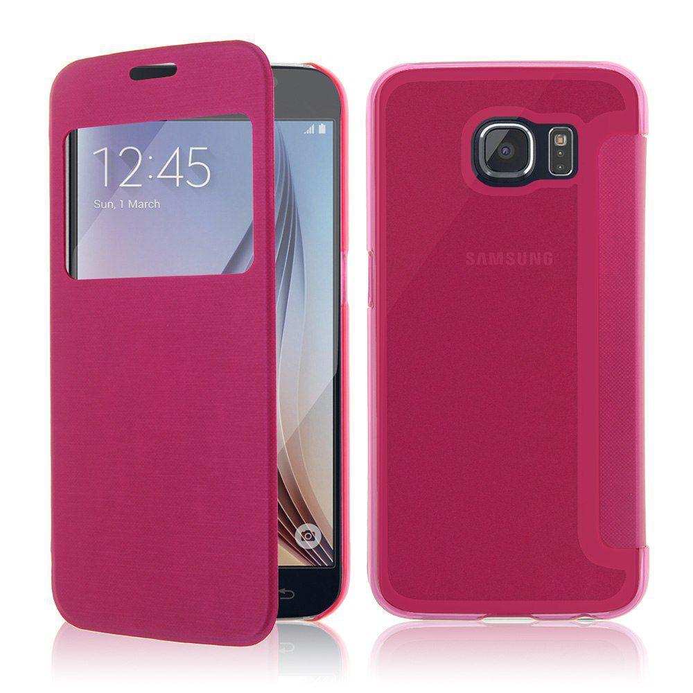 Winner pouzdro Slimbook pro Samsung Galaxy S6 edge (růžové)
