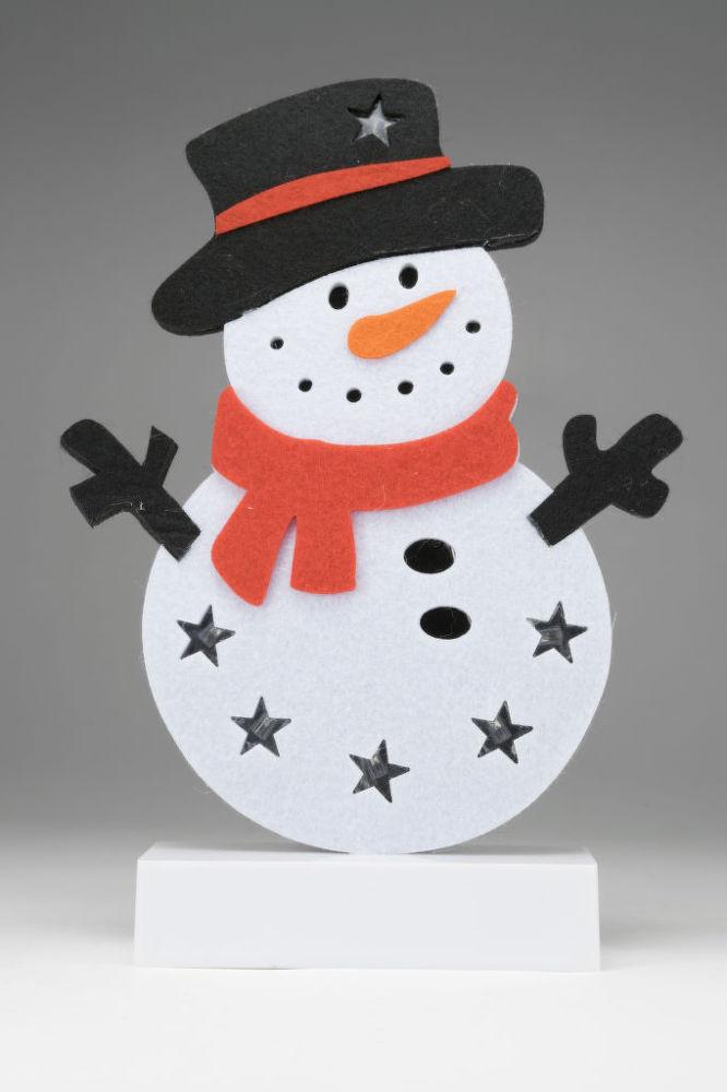 Somogyi CDM 61 LED filcová figurka na stůl - sněhulák