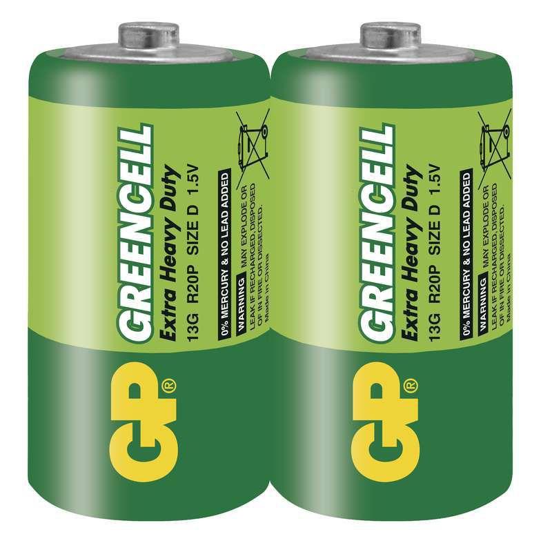 GP Greencell 13G - R20 (D), 2 ks