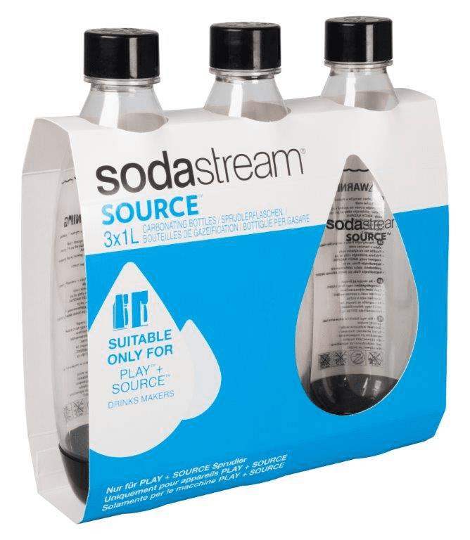 Sodastream Source Tripack čierne náhradní láhev (1l/3ks)