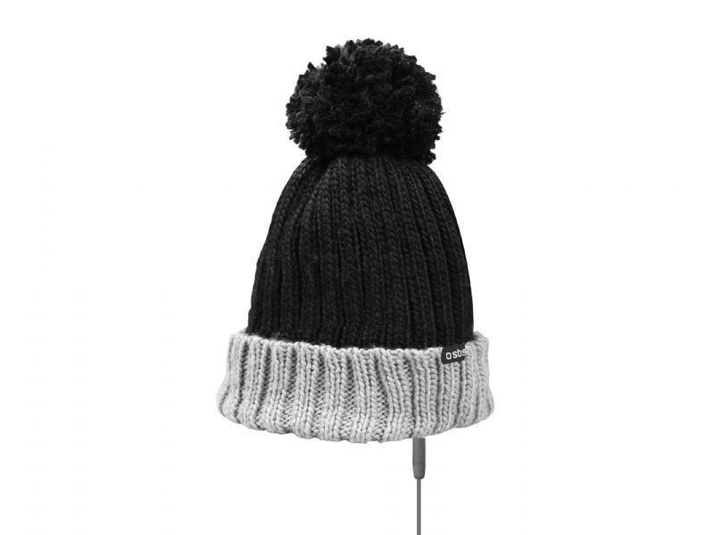SBS zimní čepice s handsfree (černá)