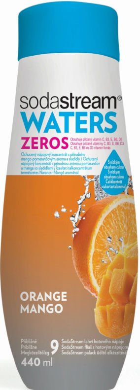 Sodastream Waters Zero pomerančovo-mangový sirup (440 ml)