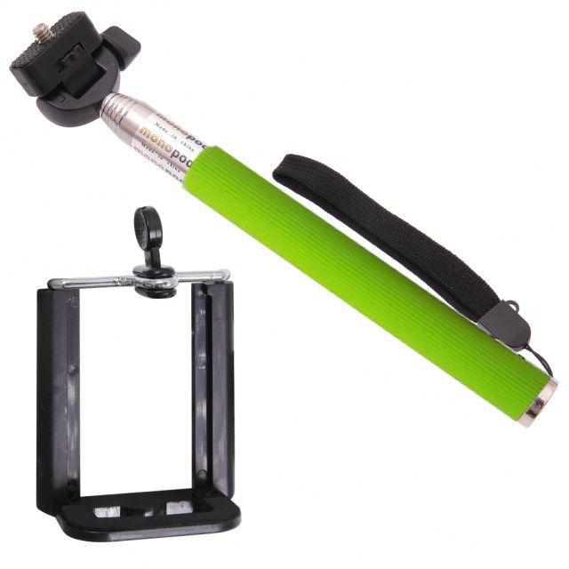 Aligator selfie tyč (zelená)
