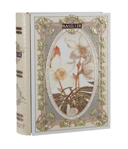Basilur 7352 Kniha Love Story III - zelený čaj 100g