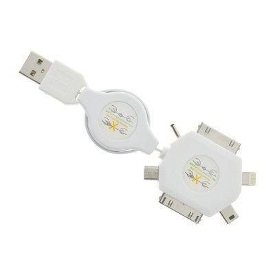 MobilNet USB 6V1 nabíjecí kabel (bílý)