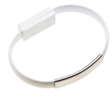 Aligator Bracelet nabíjecí kabel pro Apple iPhone 5/6 (bílý)