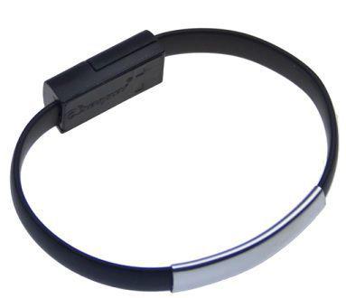 Aligator Bracelet nabíjecí kabel pro Apple iPhone 5/6 (černý)