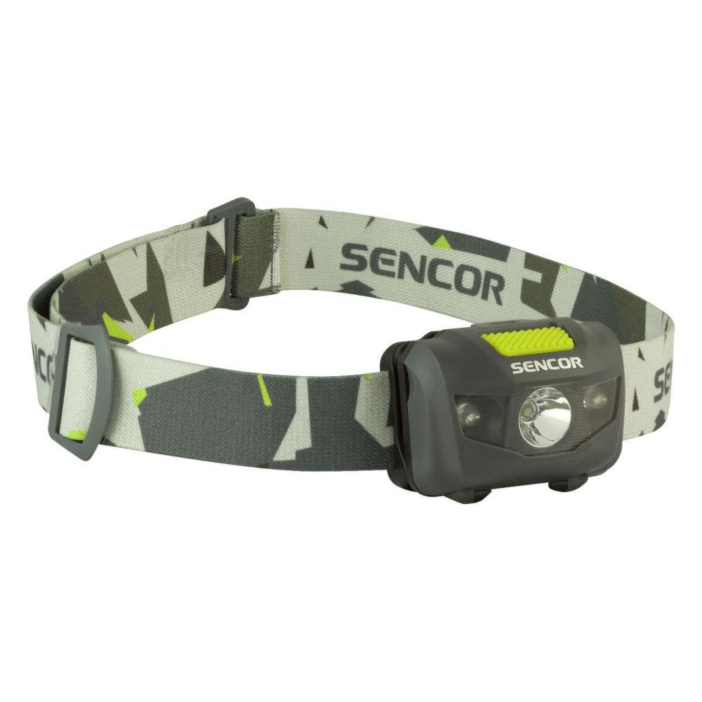 Sencor SLL 55 (šedá) - Čelová svítilna 3W+2R 3xAAA