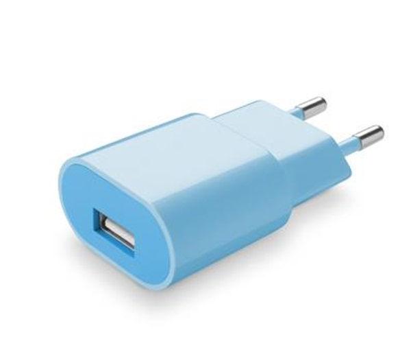 CellularLine Style&Color síťová USB nabíječka, 1A (modrá)