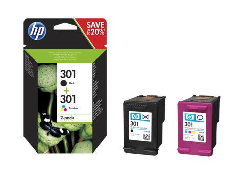 HP N9J72AE No.301 (černá) + No.301 (barevná) - inkoust