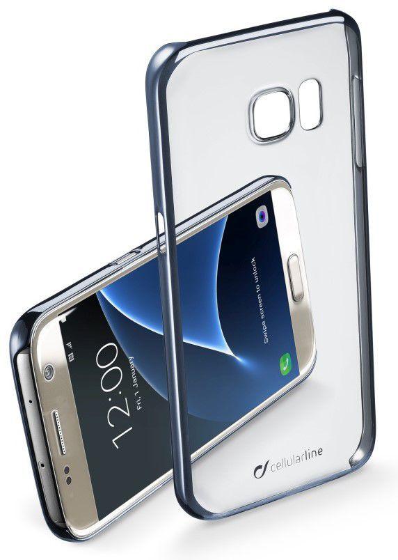 CellularLine Zadní čirý kryt Clear Samsung Galaxy S7 (Černý)