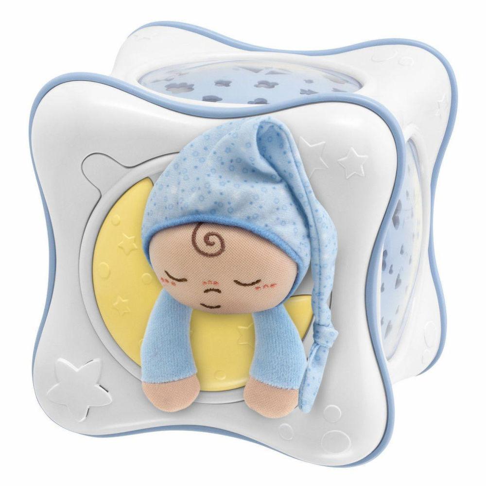 Chicco 02430.20 (modrý) - dětský projektor, duhová kostka