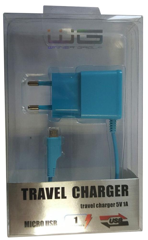 Winner síťová nabíječka Micro USB (modrá)