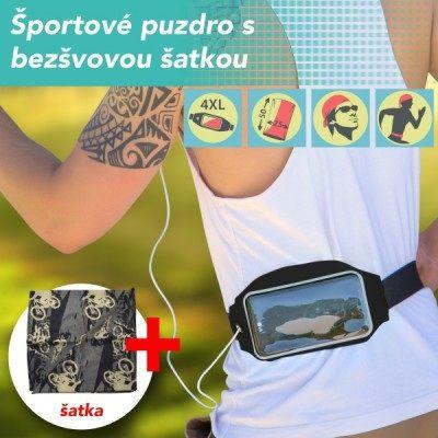Mobilnet bežecké pouzdro na pás + šátek