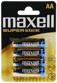 Maxell LR6 4BP AA Super Alk
