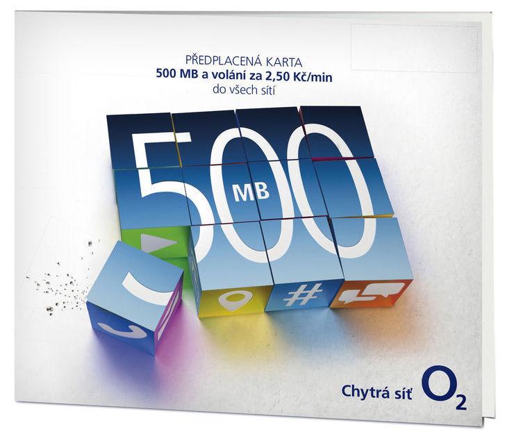 O2 SIM karta NA!SÍTI, kredit 50 Kč/500 MB