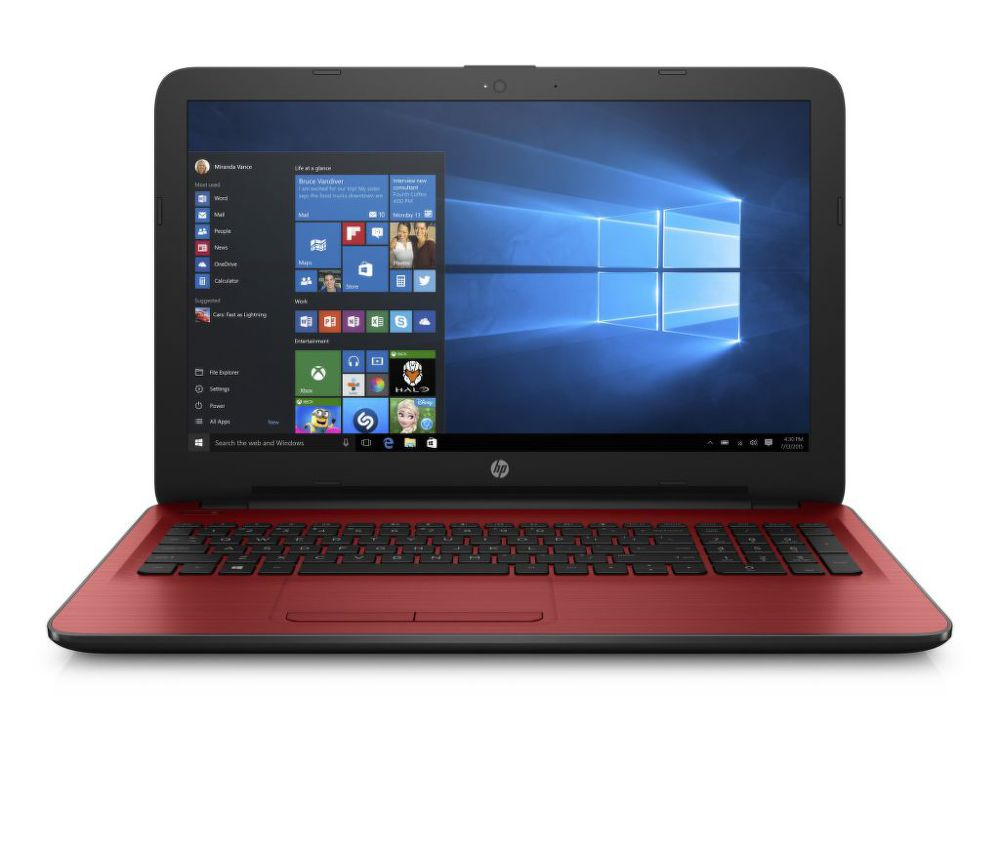 HP 15-ba005nc, E9N56EA (červený) + dárek eScan Internet Security Suite Antivirový software na 90 dní zdarma