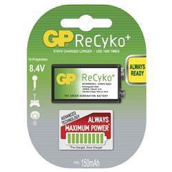 GP B0851 ReCyko+ - 9V 1604 (6F22) 150mAh, 1 ks