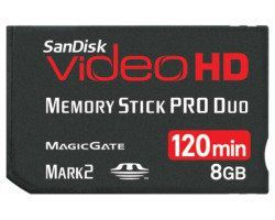 SanDisk 90870 Ultra II MS PRO Duo Video HD 8GB