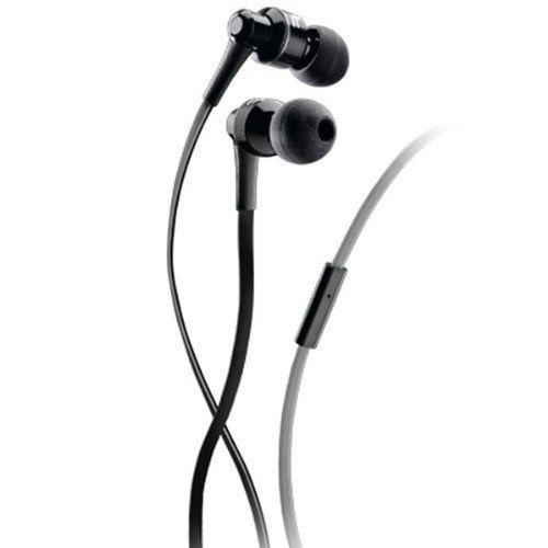 Špuntová sluchátka Audiopro Mosquito, s mikrofonem, pro mobilní telefony, černo-šedá