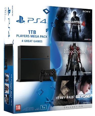 Sony PlayStation 4 1TB (černý) + Megapack, PS719829355 + dárek PS4 Dualshock Controller (černý) zdarma
