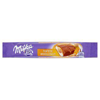 Milka TAS0657037 Toffee Wholenut Mléčná čokoláda z alpského mléka s karamelovou náplní