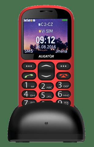 Aligator A880 + nabíjecí stojáneek, A880RD červený