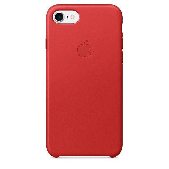 Apple kožené pouzdro na iPhone 7 (červené)