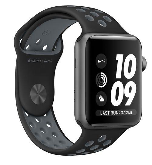 Apple Watch Nike+ 38mm (vesmírně šedý hliník s černým / Nike chladně šedým sportovním řemínkem)