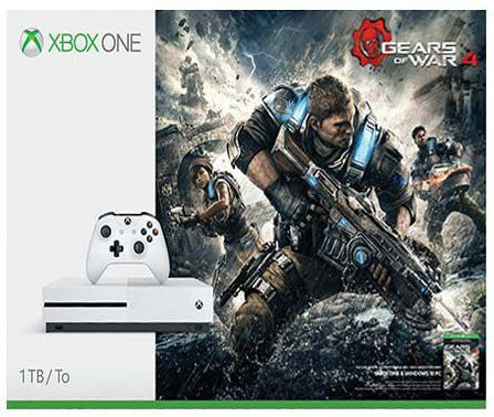 Microsoft Xbox One S 1 TB (bílá) + Gears of War 4