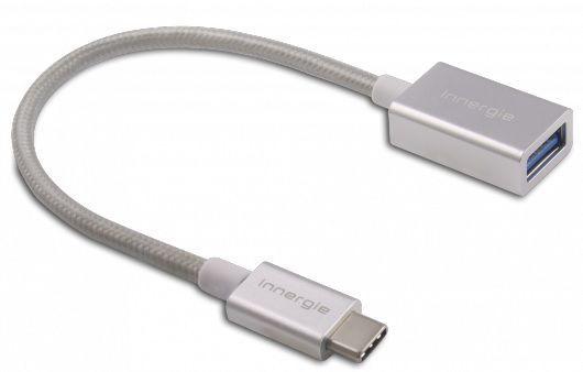 Innergie adaptér USB-C a USB 3.0 (stříbrná)
