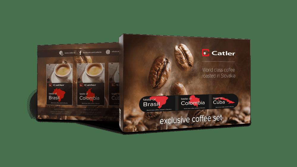 Catler Exclusive set zrnkové kávy (3x125g)