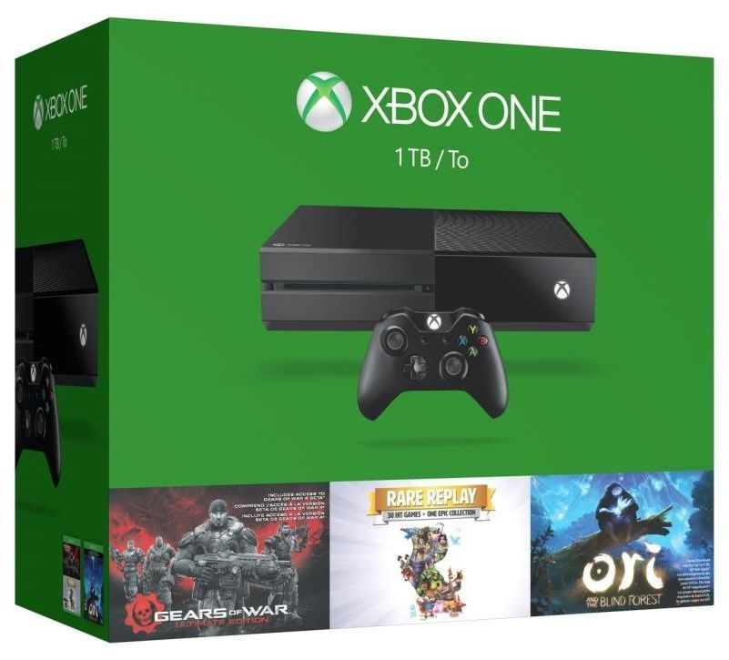 Microsoft Xbox One 1TB+Gears of War+Rare Replay+Ori and The Blind Forest