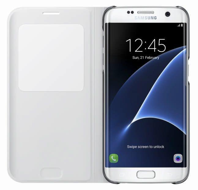 SAMSUNG Flipové pouzdro S View pro Galaxy S7 Edge (bílá)