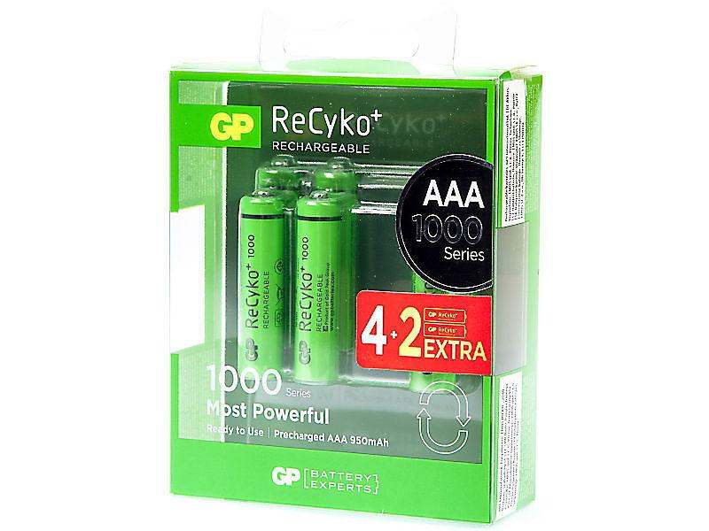 GP Recyko 1000 R03 4+2, Baterie