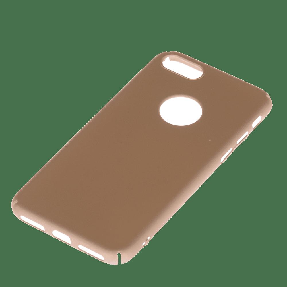 Winner iPhone 7 Velvet hnědé pouzdro na mobil