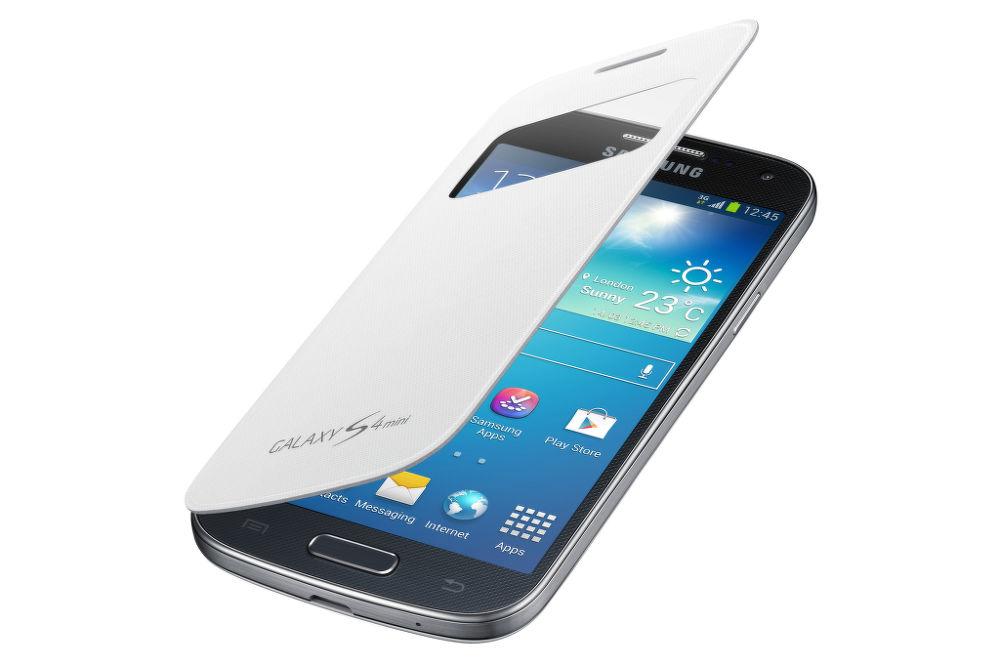 Samsung flipové pouzdro s okénkem EF-CI919BW pro Galaxy S4 mini (i9195)