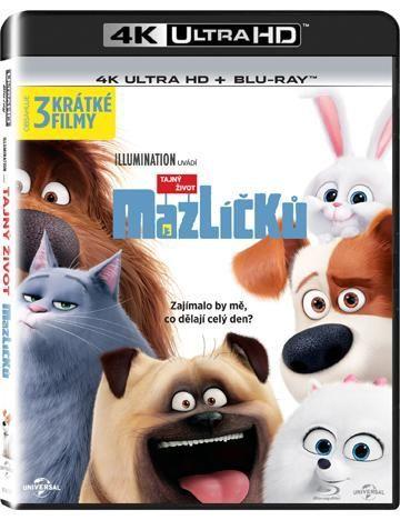 Tajný život mazlíčků 2xBD (Blu-ray + 4K UHD film)