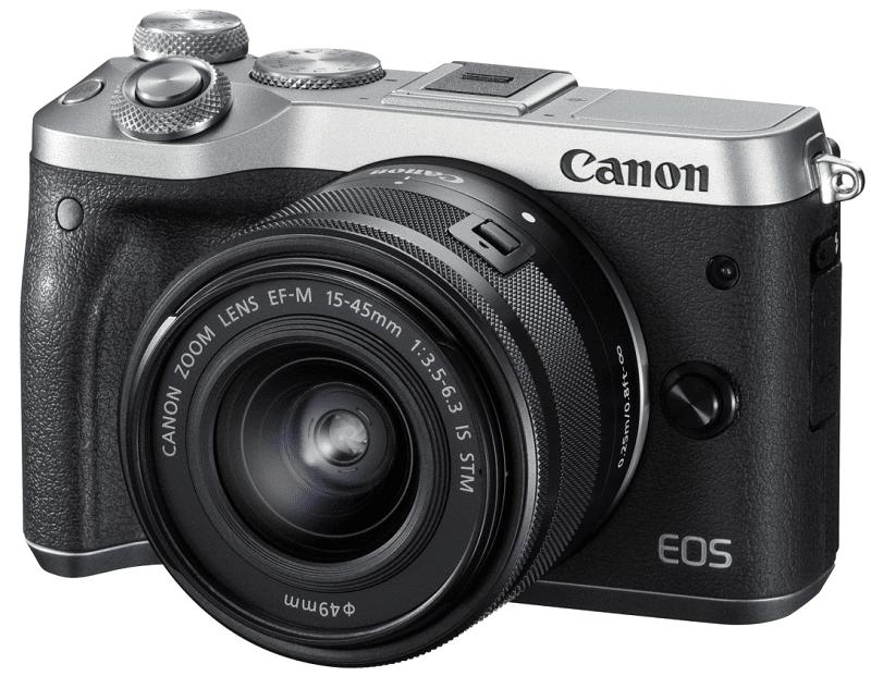 Canon EOS M6 + EF-M 15-45 f/3,5-6,3 IS STM stříbrný
