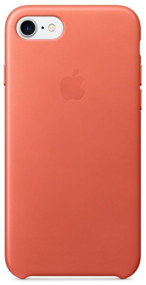 Apple iPhone 7 Leather Case oranžový