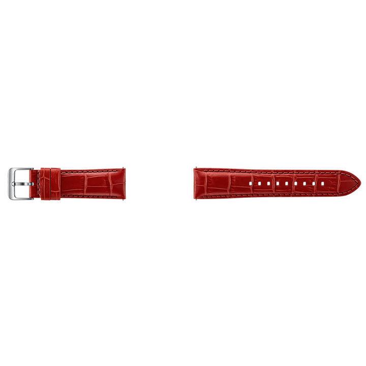 SAMSUNG Gear S3 červený kožený řemínek