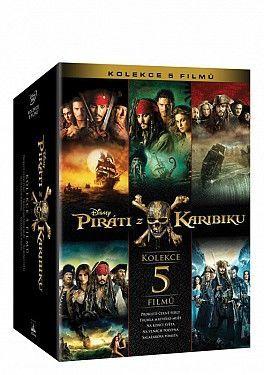 Piráti z Karibiku 1-5 kolekce - DVD