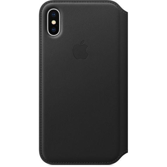 Apple Leather Folio pro iPhone X, černá